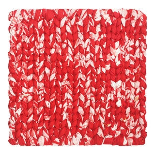 Handmade Woven Red Recycled Fabric Trivet - Global Mamas (Ghana)