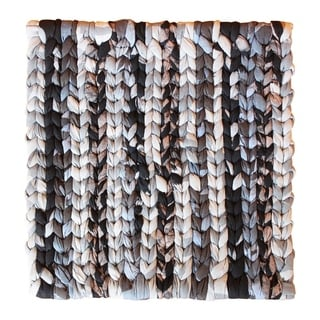 Handmade Woven Black Recycled Fabric Trivet - Global Mamas (Ghana)