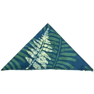 Handmade Set of Four Green Jungle Napkins - Global Mamas (Ghana)