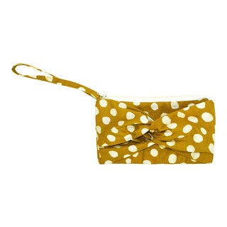 Handmade Mustard Clutch with a Twist - Global Mamas (Ghana)