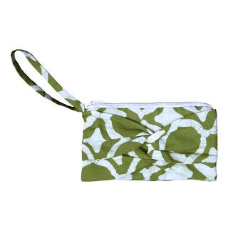 Handmade Olive Clutch with a Twist - Global Mamas (Ghana)