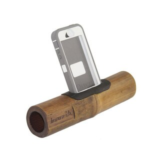 Handmade Bamboo Boozik iPhone Amplifier - Otter Compatible - Global Groove (Thailand)
