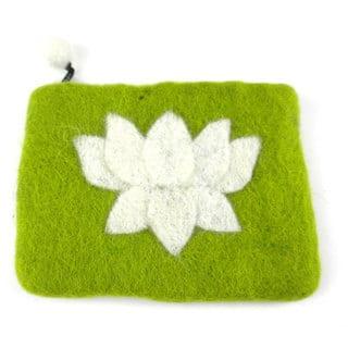 Handmade Felt Lime Lotus Flower Coin Purse - Global Groove (Nepal) https://ak1.ostkcdn.com/images/products/14138222/P20741642.jpg?impolicy=medium