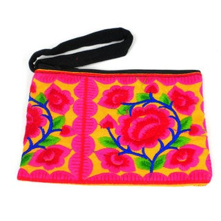 Handmade Sand Hmong Embroidered Coin Purse - Global Groove (Thailand)