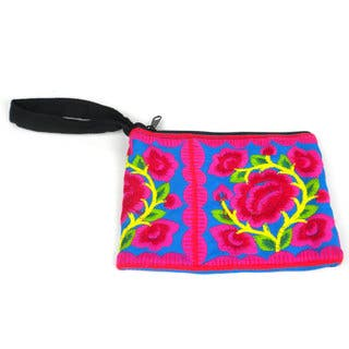 Handmade Blue Hmong Embroidered Coin Purse - Global Groove (Thailand)|https://ak1.ostkcdn.com/images/products/14138230/P20741648.jpg?impolicy=medium
