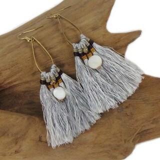 Handmade Silver Fringe Earrings - Global Groove (Thailand)