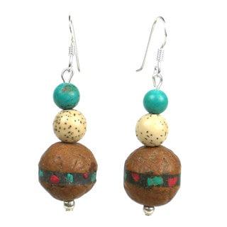 Handmade Tibetan Turquoise Earrings - Global Groove (Thailand)