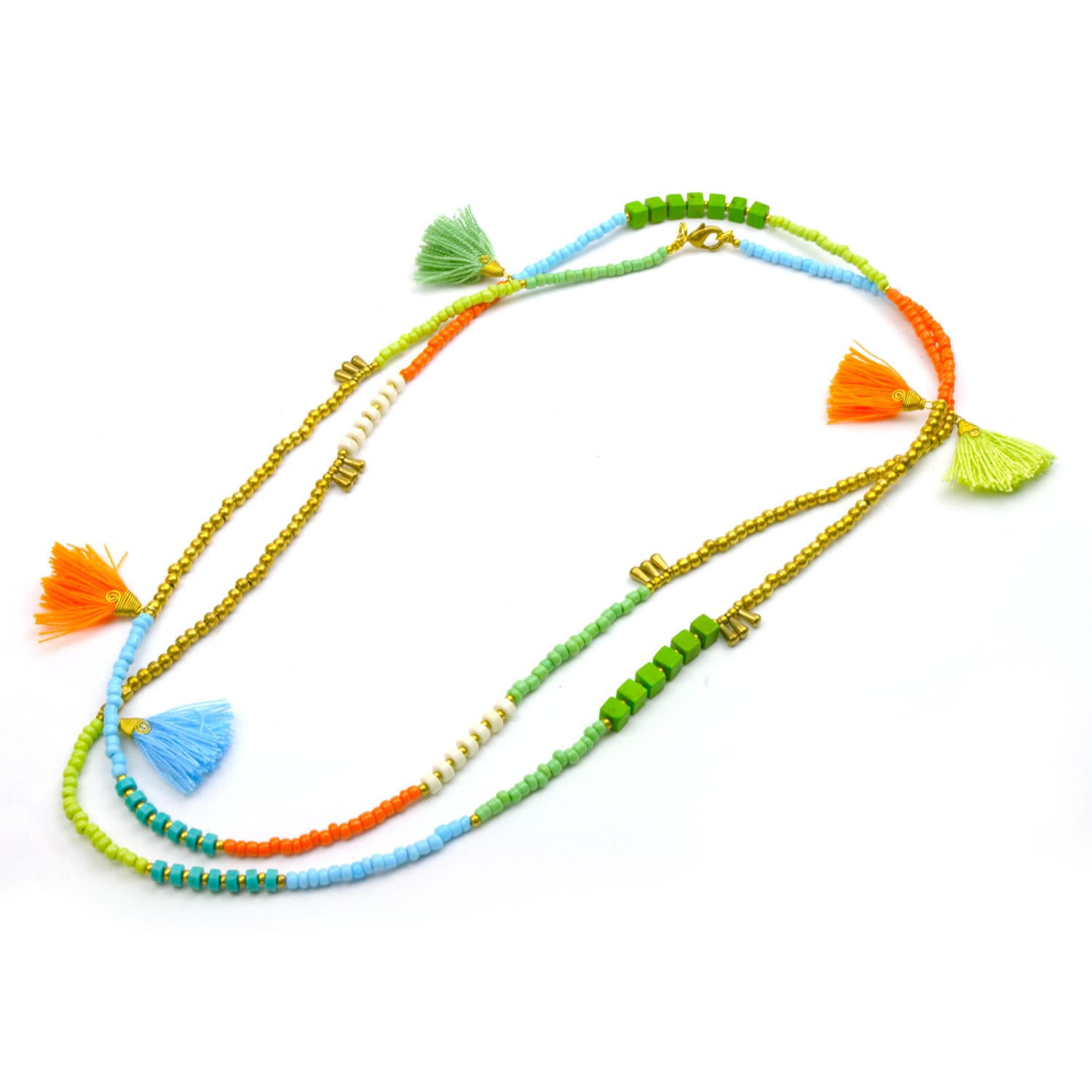 Global Crafts Handmade Island Kerala 3-in-1 Necklace - Gl...