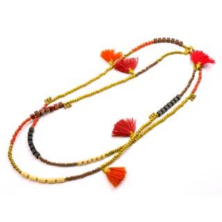 Handmade Desert Sun Kerala 3-in-1 Necklace - Global Groove (Thailand)