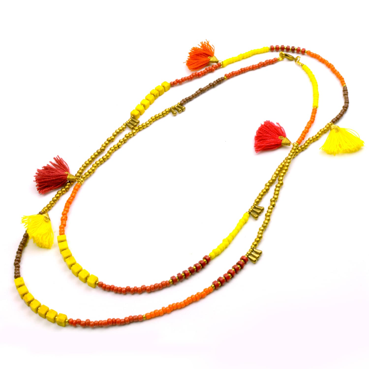 Global Crafts Handmade Fire Kerala 3-in-1 Necklace - Glob...
