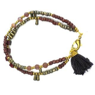 Handmade Henna Kerala Tassel Bracelet - Global Groove (Thailand)