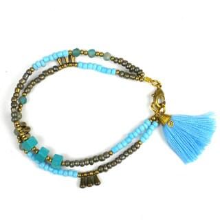 Handmade Cloud Kerala Tassel Bracelet - Global Groove (Thailand)