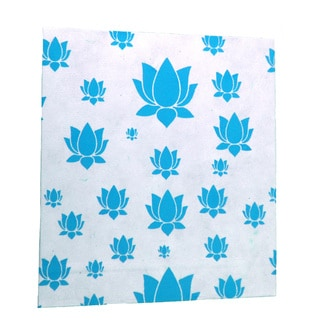 Handmade Large Lotus Journal in Turquoise - Global Groove (Thailand)