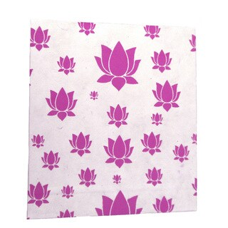 Handmade Large Lotus Journal in Pink - Global Groove (Thailand)
