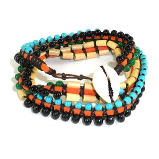 Handmade World Cup Vegan Wrap Bracelet - Global Groove (Thailand)