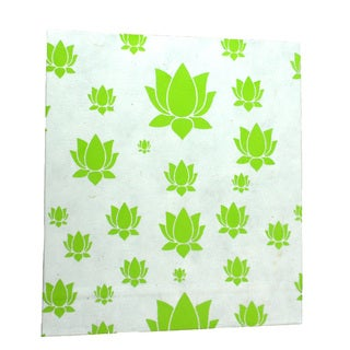 Handmade Large Lotus Journal in Lime - Global Groove (Thailand)