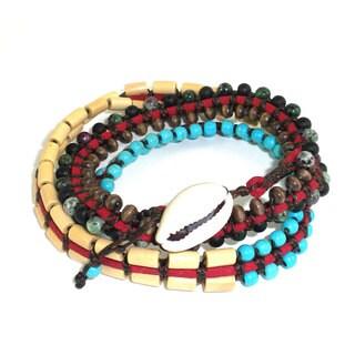 Handmade Tribal Vegan Wrap Bracelet - Global Groove (Thailand)