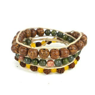 Handmade Mukti Energy Wrap Bracelet - Global Groove (Thailand)