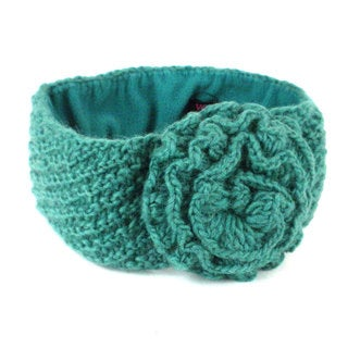 Handmade Lined Posy Headband in Green - Global Groove (Nepal)