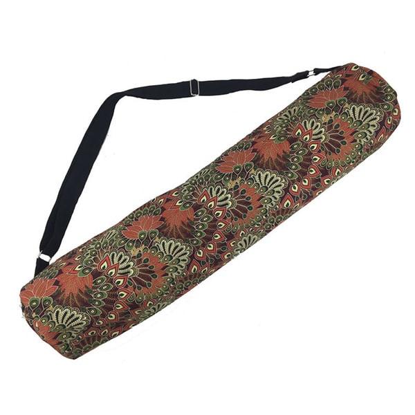 Handmade Clay Forest Peacock Yoga Mat Bag - Global Groove (Thailand)