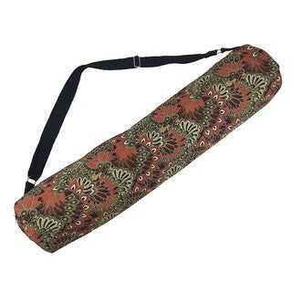 Handmade Clay Forest Peacock Yoga Mat Bag - Global Groove (Thailand)