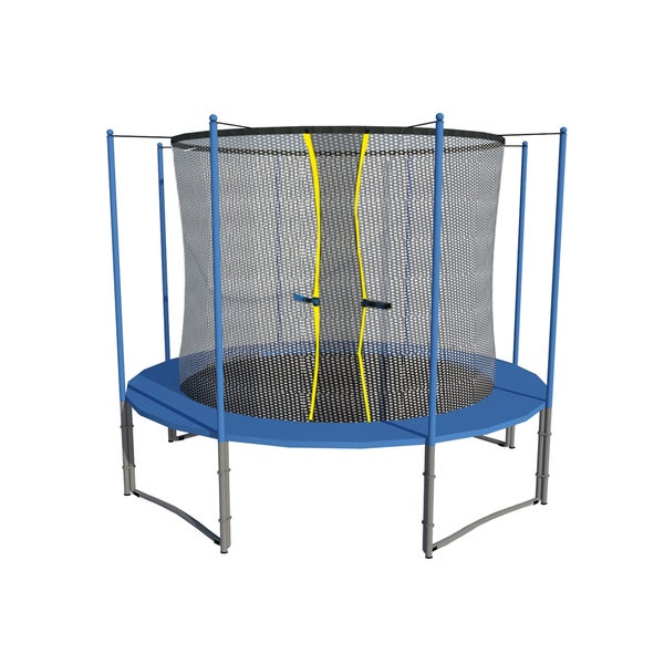 10 FT Trampoline w/ safety pad & Enclosure Net ALL-IN-ONE COMBO