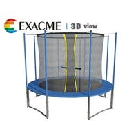ExacMe 12FT Inner Trampoline W/safety pad & Enclosure Net ALL-IN-ONE Combo