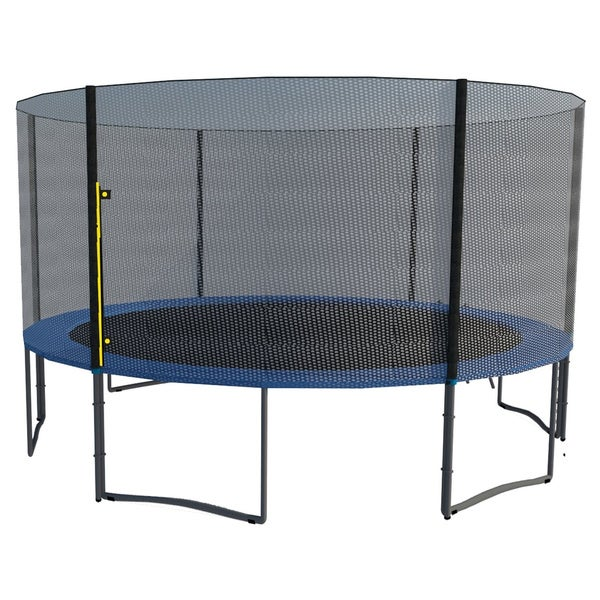 Orbounder 14 Foot Trampoline With Enclosure Green: Shop ExacMe 14-foot Trampoline With Safety Pad, Enclosure