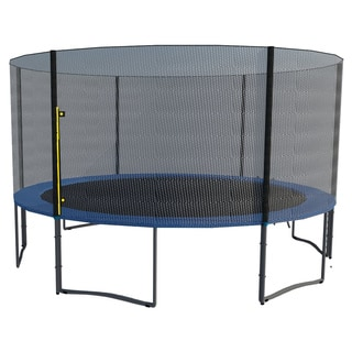 ExacMe 14 FT Trampoline w/ Safety Pad & Enclosure Net & Ladder COMBO