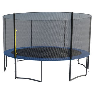 ExacMe 14-foot Trampoline with Safety Pad, Enclosure Net and Ladder