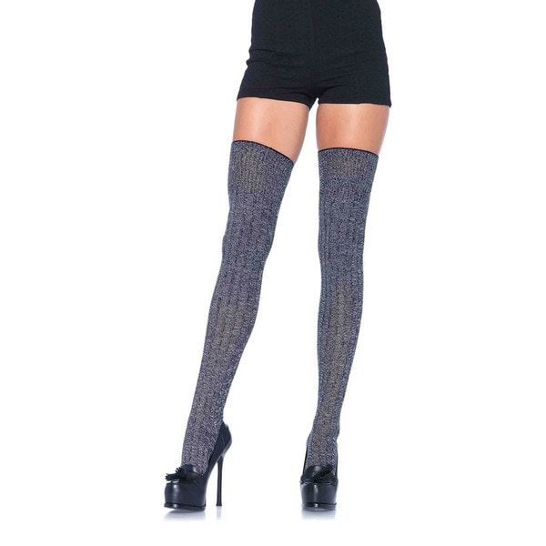 0fc73a338 Shop Leg Avenue Heather Grey Cotton-blend Thigh Highs - Free Shipping On Orders  Over  45 - Overstock - 14138311