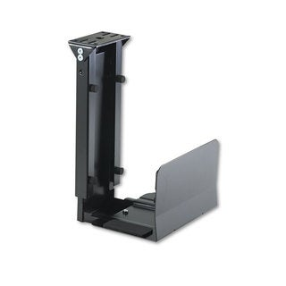 Safco Ergo-Comfort Fixed-Mount Under Desk CPU Holder 7-inch wide x 9-1/2-inch deep x 14-inch high Black