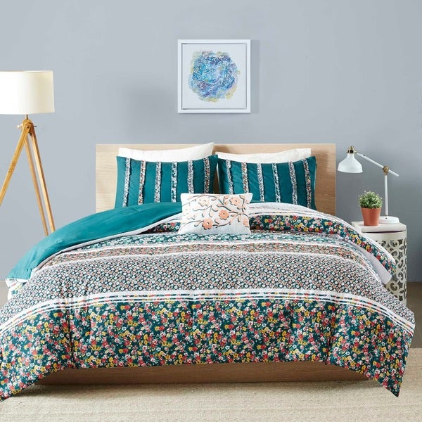 Intelligent Design Amelia Teal 5-piece Comforter Set