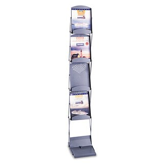 Safco Portable Folding Literature Display 10-inch wide x 13-1/4-inch deep x 56-inch high Metallic Grey