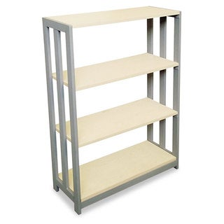 Linea Italia Trento Line Bookcase Three-Shelf 31-1/2-inch wide x 11-5/8-inch deep x 43-1/4-inch high Oatmeal