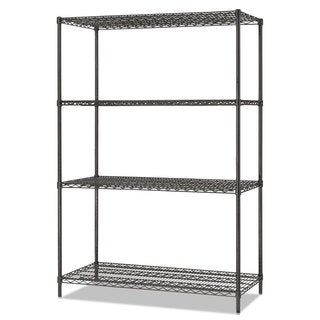 Alera All-Purpose Wire Shelving Starter Kit 4-Shelf 48 x 24 x 72 Black Anthracite