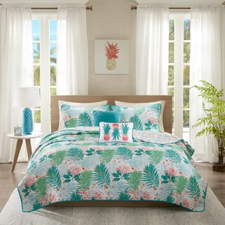 Intelligent Design Lilo Aqua Printed 5-piece Coverlet Set (2 options available)