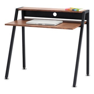 Safco Writing Desk 37 3/4 x 22 3/4 x 34 1/4 Natural/Black