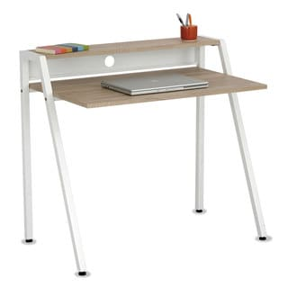 Safco Writing Desk 37 3/4 x 22 3/4 x 34 1/4 Beech/White
