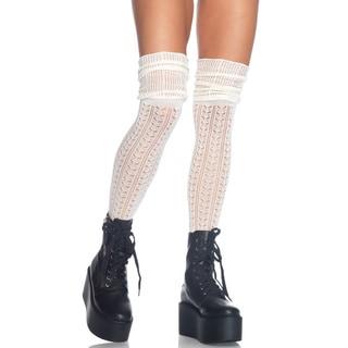 Leg Avenue Acrylic Pointelle Over-the-knee Scrunch Sock
