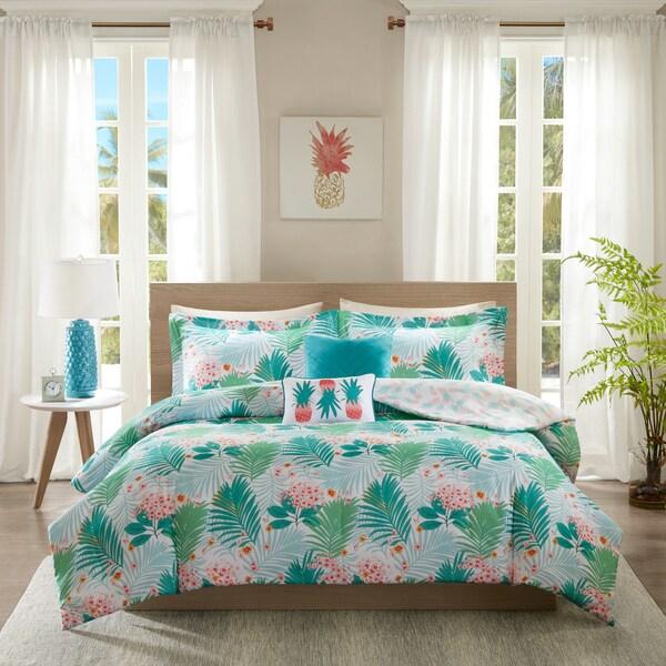 Shop Intelligent Design Lilo Aqua Printed Comforter Set