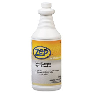Zep Professional Stain Remover with Peroxide Quart Bottle, 6/Carton
