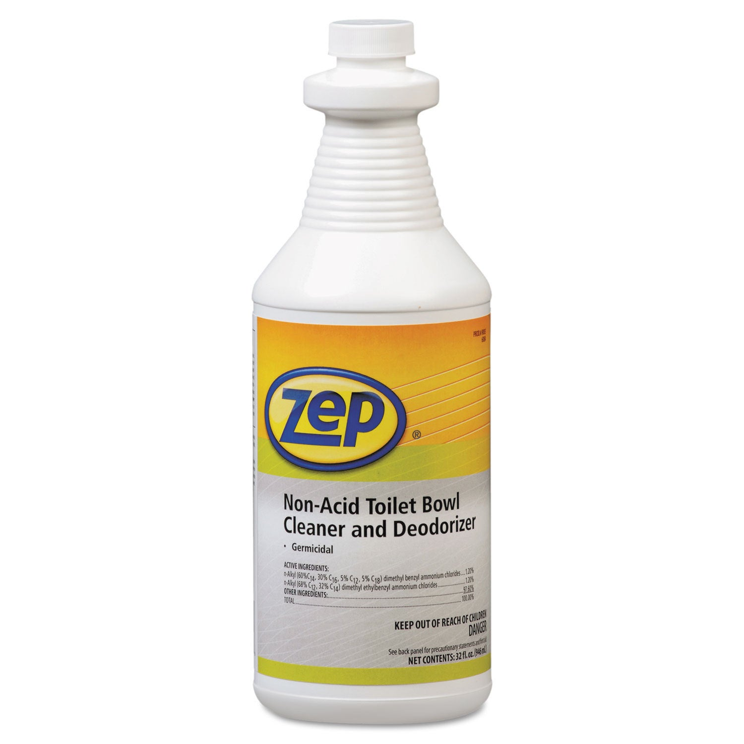 ZEP Professional Toilet Bowl Cleaner Non-Acid qt Bottle, ...