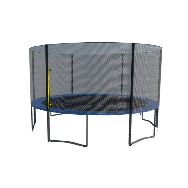 ExacMe 12 FT Trampoline w/ Safety Pad & Enclosure Net & Ladder COMBO