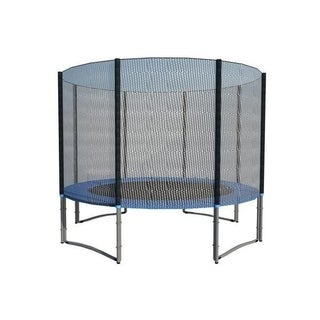 ExacMe 10FT Trampoline w/ safety pad & Enclosure Net & ladder COMBO