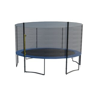 ExacMe 15FT 6W Legs Trampoline w/ safety pad & Enclosure Net & ladder COMBO T15