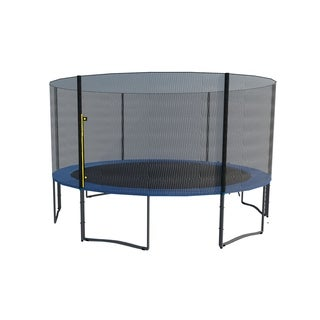 ExacMe 15FT Trampoline w/ safety pad & Enclosure Net & ladder COMBO
