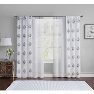 VCNY Home Jax Panel Pair with Bonus White Sheers