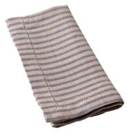 Cottage Home Bernadette Steel Blue Stripe Linen Guest Towels (Set of 2)