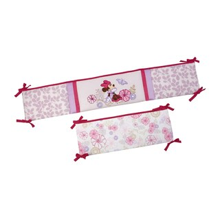Disney Minnie Butterfly Dreams Multicolor Cotton-blend Padded Crib Bumper